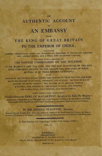 Aquatint & Lithography - An Authentic Account of an Embassy from Great Britain to China Vol. 2