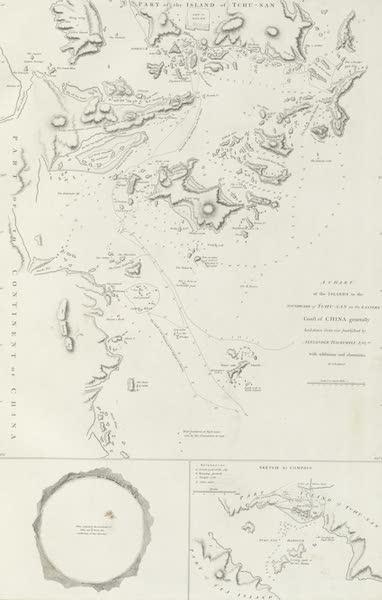 An Authentic Account of an Embassy from the King of Great Britain to the Emperor of China [Vol. 3: Plates] - A chart of several clusters of islands lying on the eastern coast of China (1797)