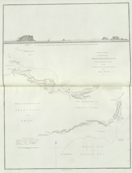 An Authentic Account of an Embassy from the King of Great Britain to the Emperor of China [Vol. 3: Plates] - A sketch by compass of the coast of the promontory of Shan-tung (1797)