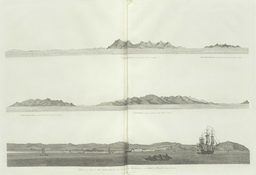 An Authentic Account of an Embassy from the King of Great Britain to the Emperor of China [Vol. 3: Plates] - Views of the land which forms the eastern extremity of the promontory of Shan-tung (1797)