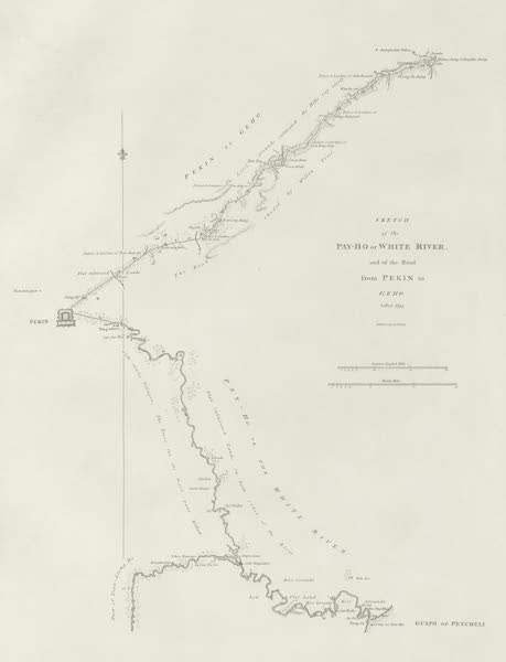 An Authentic Account of an Embassy from the King of Great Britain to the Emperor of China [Vol. 3: Plates] - A sketch of the Pei-ho, or White river (1797)