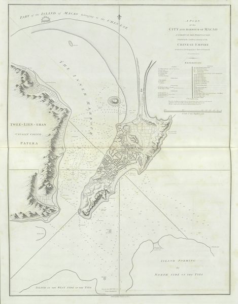 An Authentic Account of an Embassy from the King of Great Britain to the Emperor of China [Vol. 3: Plates] - A plan of the city and harbour of Macao (1797)