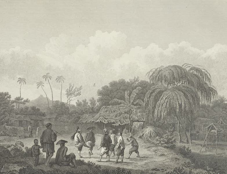 An Authentic Account of an Embassy from the King of Great Britain to the Emperor of China [Vol. 3: Plates] - View of a village on the borders of Turon bay, in Cochinchina (1797)