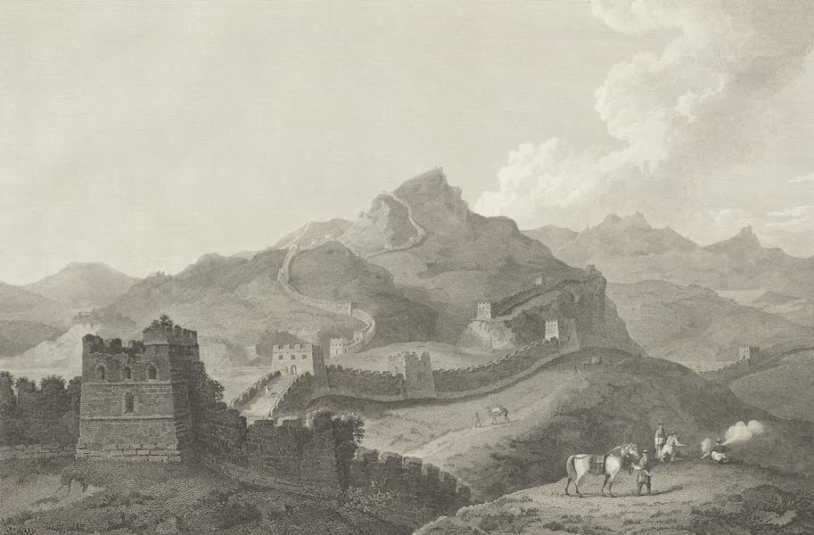 An Authentic Account of an Embassy from the King of Great Britain to the Emperor of China [Vol. 3: Plates] - A view of part of the great wall of China (1797)