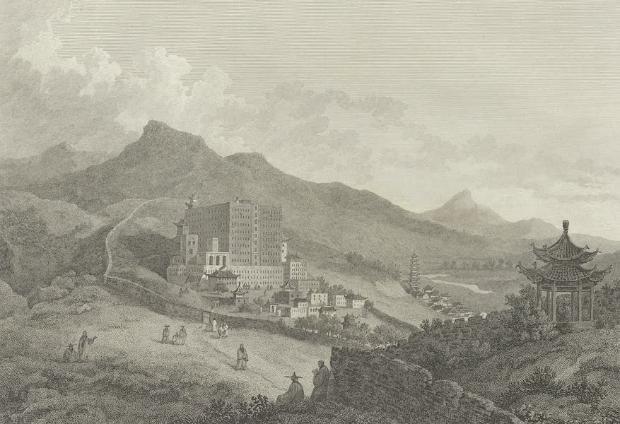 An Authentic Account of an Embassy from the King of Great Britain to the Emperor of China [Vol. 3: Plates] - A view of Poo-ta-la, or great temple (1797)