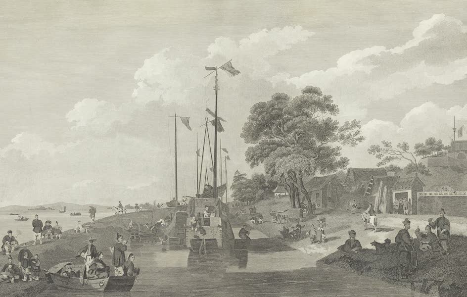 An Authentic Account of an Embassy from the King of Great Britain to the Emperor of China [Vol. 3: Plates] - View across the lake Pao-yng (1797)