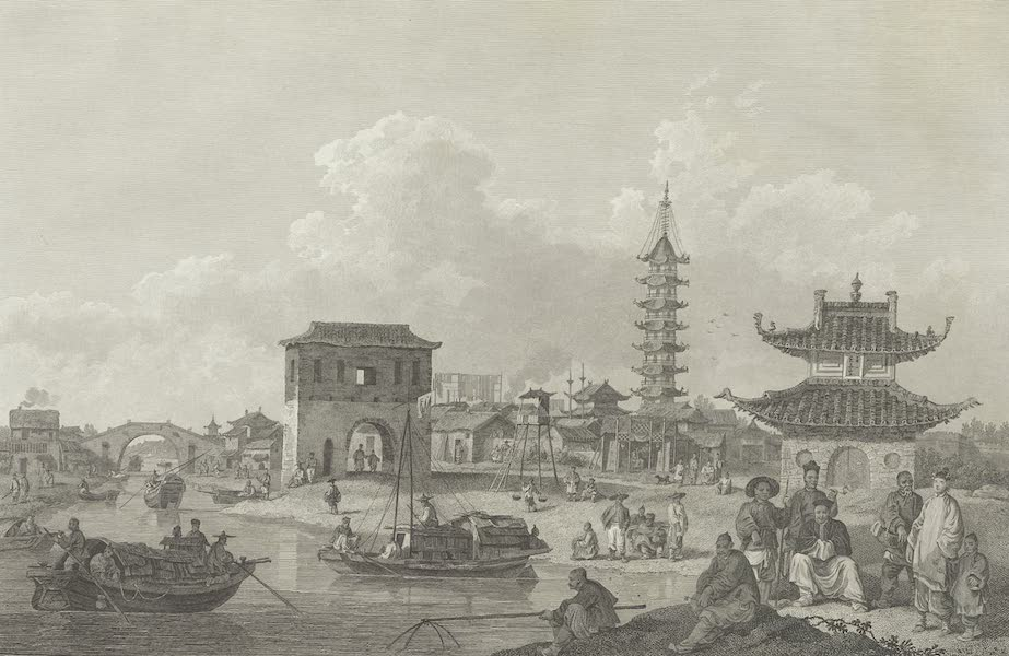 An Authentic Account of an Embassy from the King of Great Britain to the Emperor of China [Vol. 3: Plates] - View of the suburbs of a Chinese city (1797)