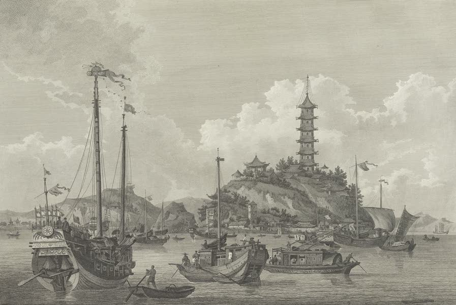 An Authentic Account of an Embassy from the King of Great Britain to the Emperor of China [Vol. 3: Plates] - A view of the Chin-san, or golden island (1797)