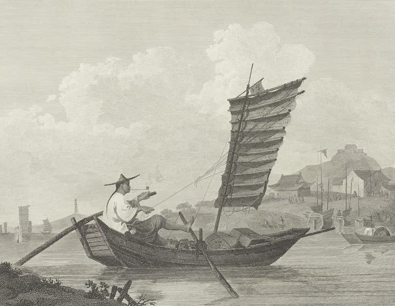 An Authentic Account of an Embassy from the King of Great Britain to the Emperor of China [Vol. 3: Plates] - Economy of time and labour, exemplified in a Chinese waterman (1797)