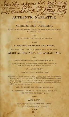 An Authentic Narrative of the Loss of the American Brig Commerce (1817)