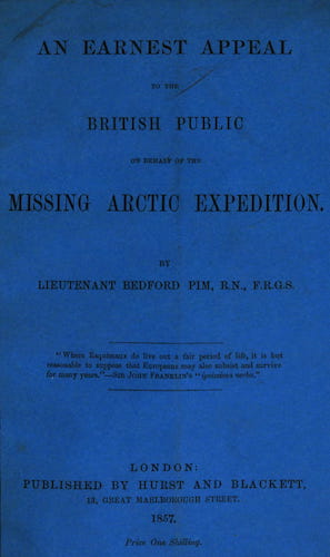 English - An Earnest Appeal to the British Public on Behalf of the Missing Arctic Expedition