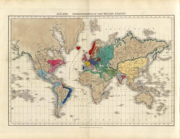An Historical Atlas - A.D. 1783. Independence Of The United States. (1830)