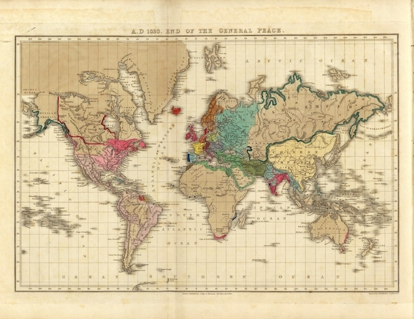 An Historical Atlas - A.D. 1828. End Of The General Peace. (1830)
