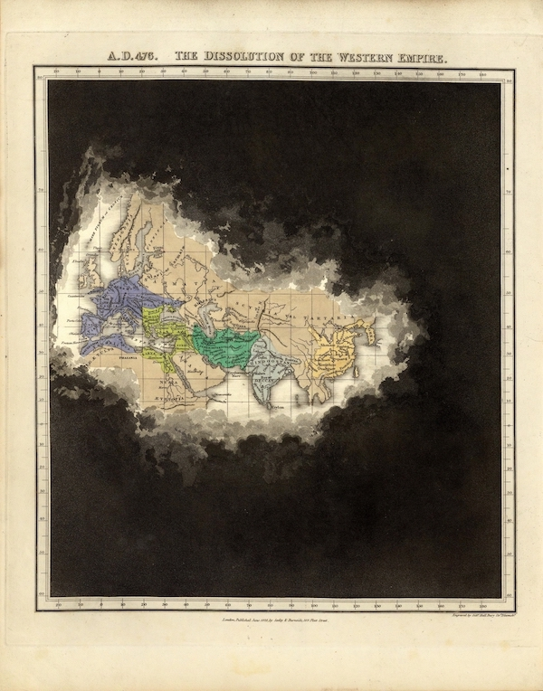An Historical Atlas - A.D. 476. The Dissolution Of the Western Empire. (1830)