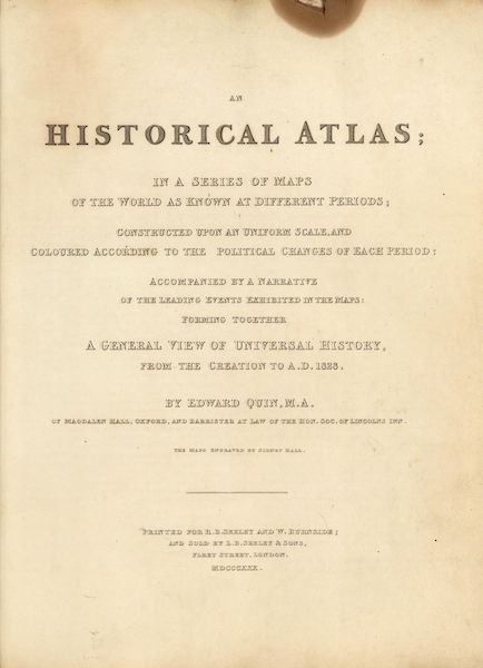 An Historical Atlas - Title Page (1830)