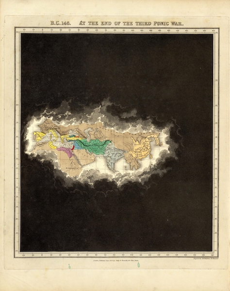 An Historical Atlas - B.C. 146. At The End Of The Third Punic War. (1830)