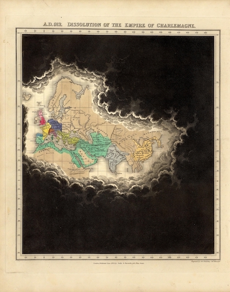 An Historical Atlas - A.D. 912. Dissolution of the Empire Of Charlemagne. (1830)