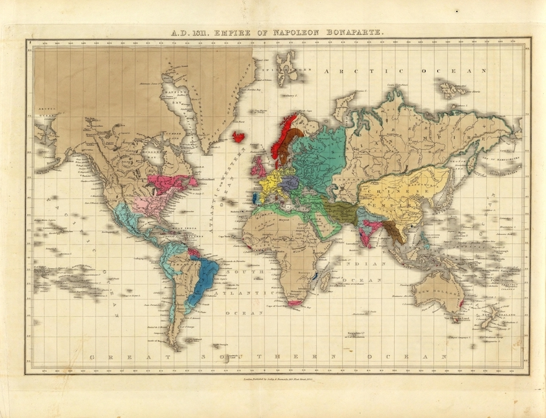 An Historical Atlas - A.D. 1811. Empire of Napoleon Bonaparte. (1830)