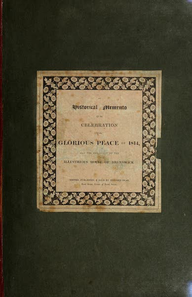 An Historical Memento Representing the Glorious Peace of 1814 - Front Cover (1814)