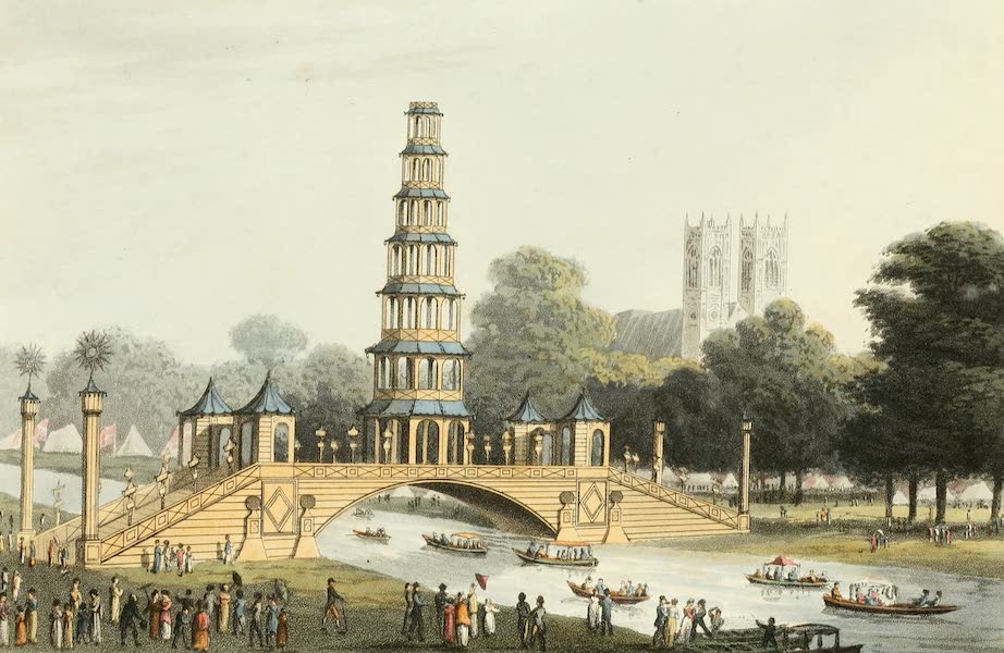 An Historical Memento Representing the Glorious Peace of 1814 - The Chinese Bridge and Pagoda (1814)