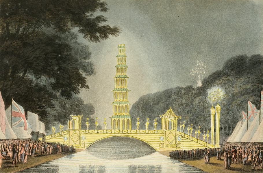 An Historical Memento Representing the Glorious Peace of 1814 - The Chinese Bridge Illuminated (1814)