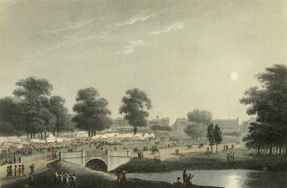 An Historical Memento Representing the Glorious Peace of 1814 - The View of the Fair in Hyde Park, August 1st, 1814 (1814)