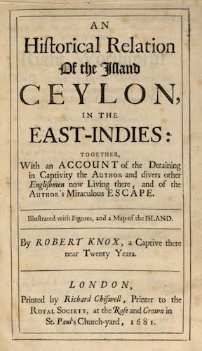 English - An Historical Relation of the Island Ceylon