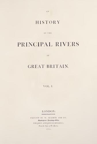 Aquatint & Lithography - An History of the Principal Rivers of Great Britain Vol. 1