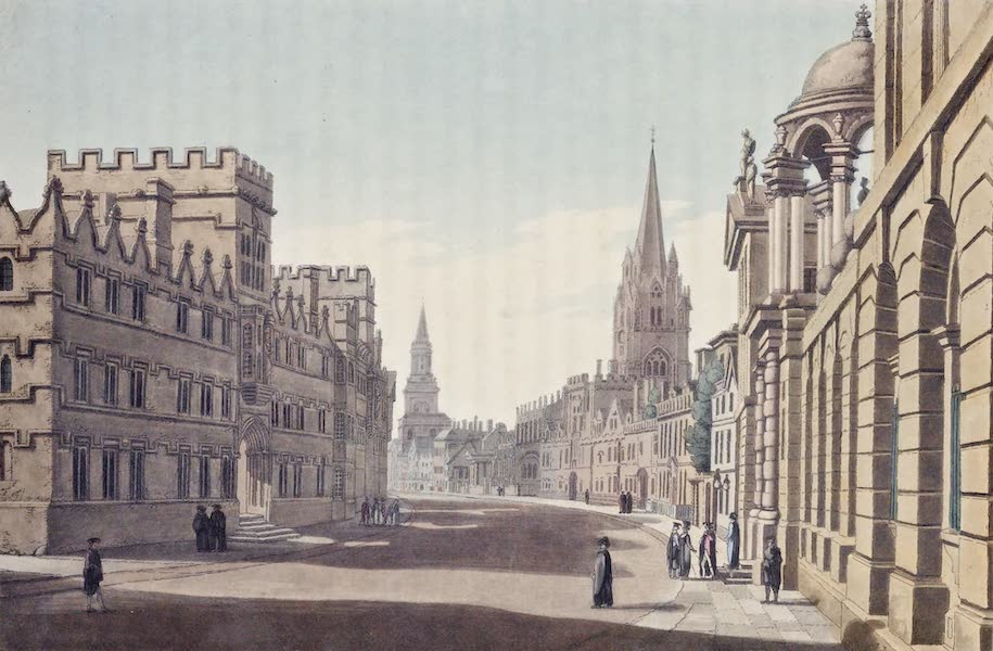 An History of the Principal Rivers of Great Britain Vol. 1 - View of High-street in Oxford  (1794)