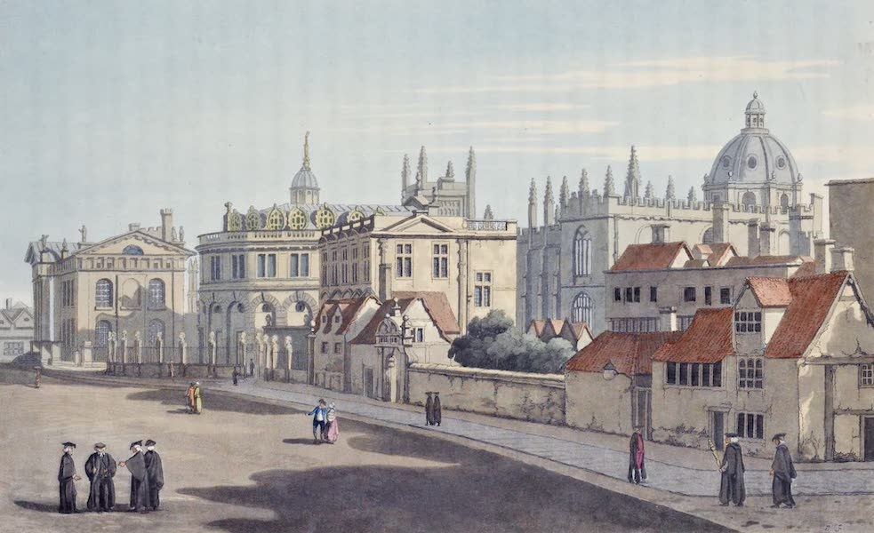 An History of the Principal Rivers of Great Britain Vol. 1 - View of Broad-street in Oxford (1794)