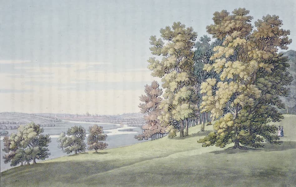 An History of the Principal Rivers of Great Britain Vol. 1 - View from Nuneham toward Oxford (1794)