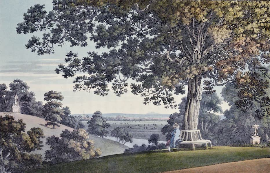 An History of the Principal Rivers of Great Britain Vol. 1 - View of Carfax and Abingdon, from Whitehead's Oak (1794)
