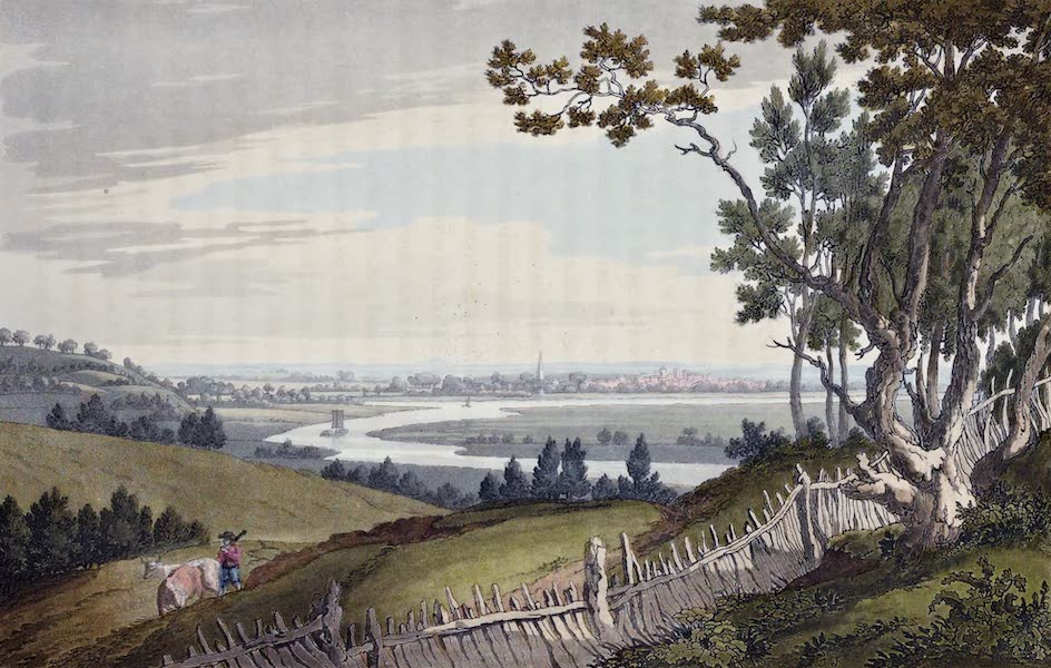 An History of the Principal Rivers of Great Britain Vol. 1 - View of Abingdon, from Nuneham Park (1794)