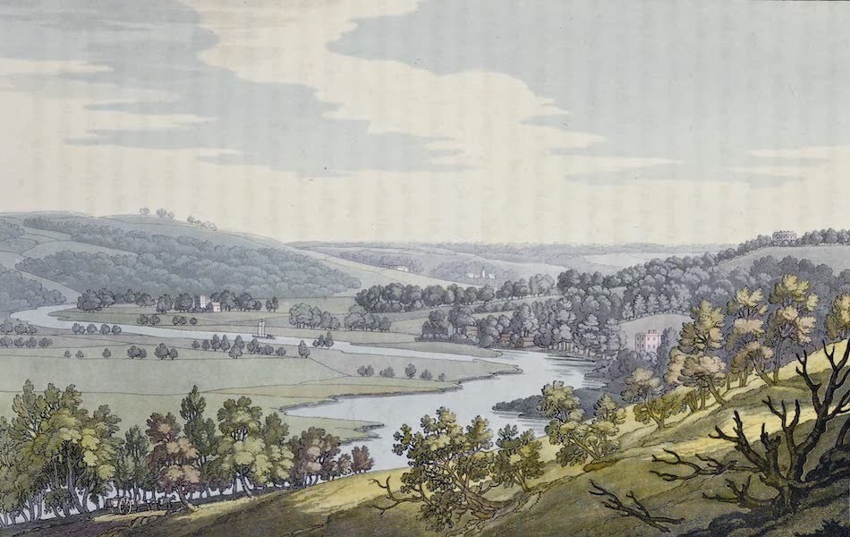 An History of the Principal Rivers of Great Britain Vol. 1 - View toward Bassilden, from Streatley Hill (1794)