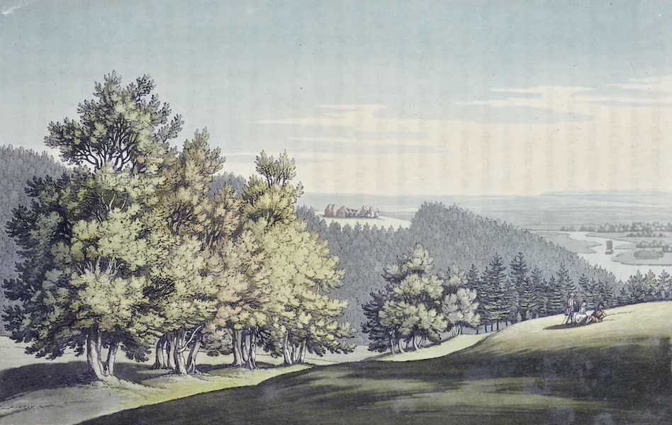 An History of the Principal Rivers of Great Britain Vol. 1 - Scene at Park Place, including the Druid's Temple (1794)