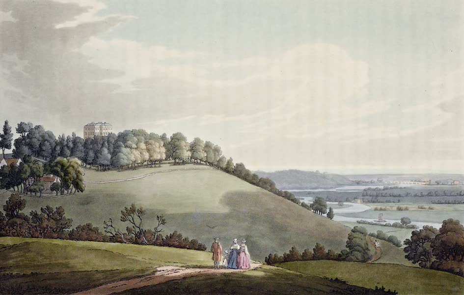 An History of the Principal Rivers of Great Britain Vol. 1 - Hedsor Lodge, looking towards Maidenhead (1794)