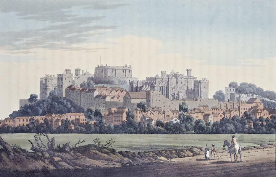 An History of the Principal Rivers of Great Britain Vol. 1 - View of Windsor from Clewer (1794)