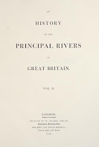 Aquatint & Lithography - An History of the Principal Rivers of Great Britain Vol. 2