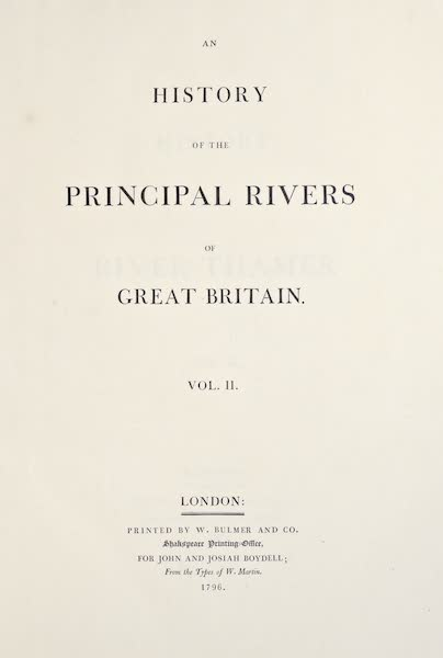 An History of the Principal Rivers of Great Britain Vol. 2 - Title Page (1794)