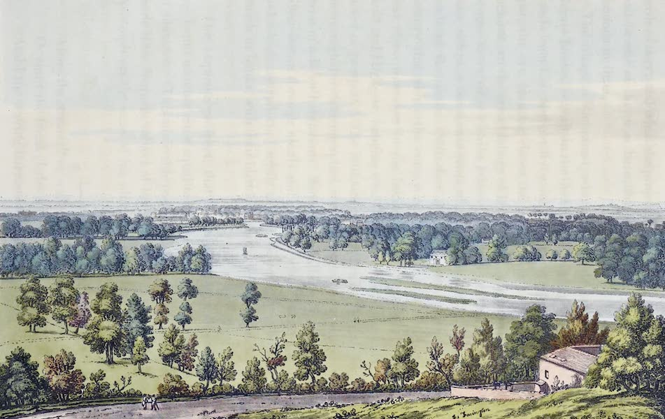 An History of the Principal Rivers of Great Britain Vol. 2 - View from Richmond Hill, up the River (1794)