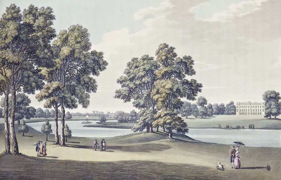 An History of the Principal Rivers of Great Britain Vol. 2 - View of Sion House from Kew Garden (1794)