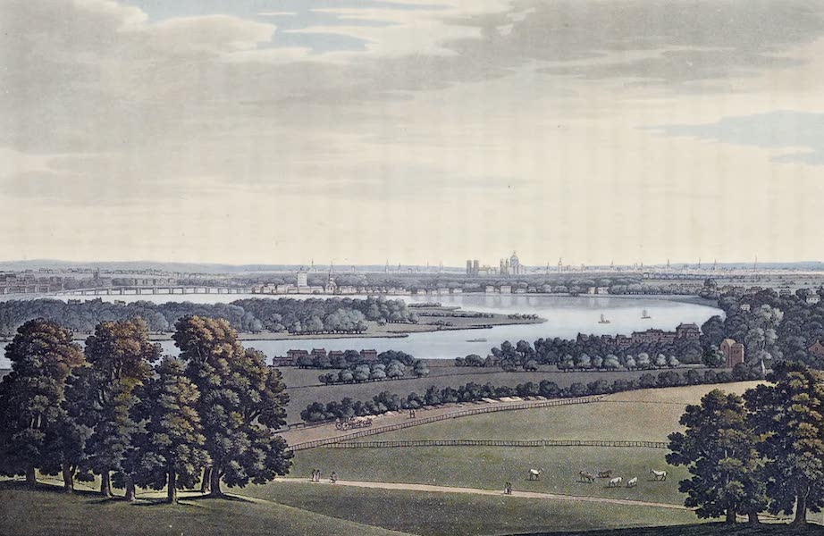 An History of the Principal Rivers of Great Britain Vol. 2 - Battersea, Chelsea, and London, from Mr. Rucker's Villa (1794)