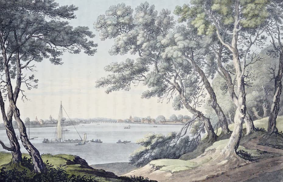 An History of the Principal Rivers of Great Britain Vol. 2 - View up the River from Milbank (1794)