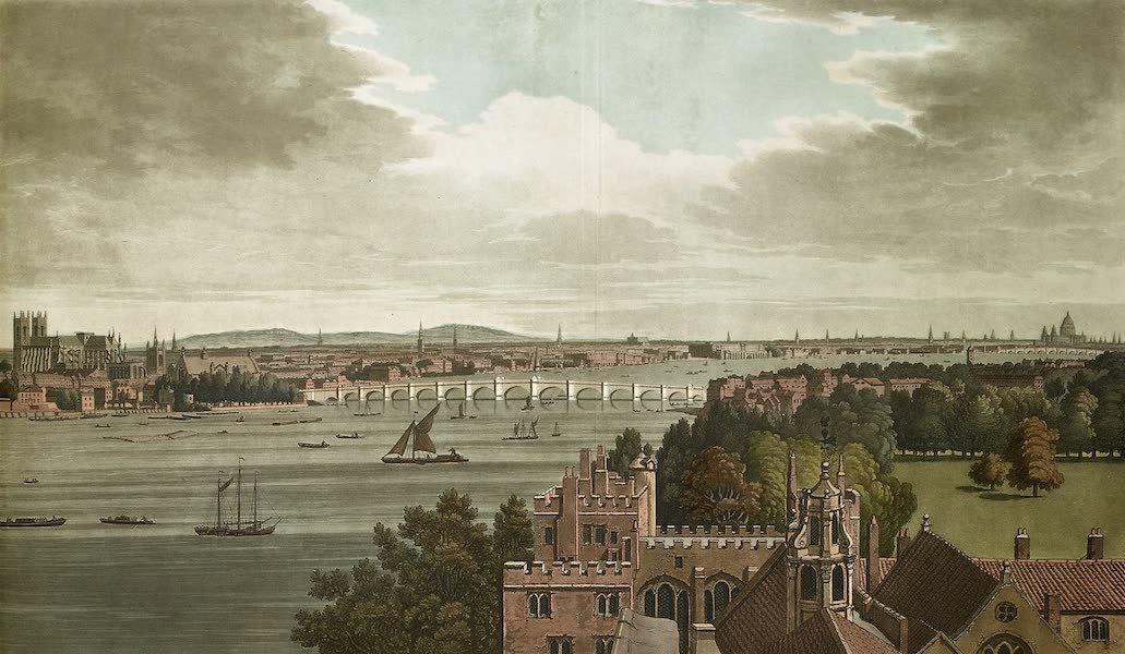An History of the Principal Rivers of Great Britain Vol. 2 - View of London from Lambeth (1794)