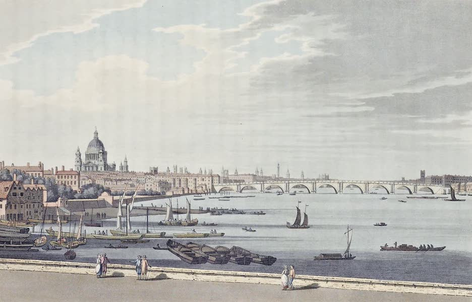 An History of the Principal Rivers of Great Britain Vol. 2 - View of Blackbriar's Bridge from Somerset Place (1794)
