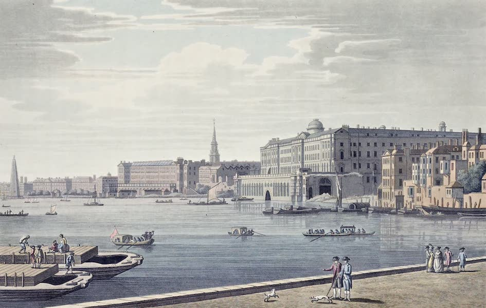 An History of the Principal Rivers of Great Britain Vol. 2 - View of Somerset Place and the Adelphi from Temple Garden (1794)