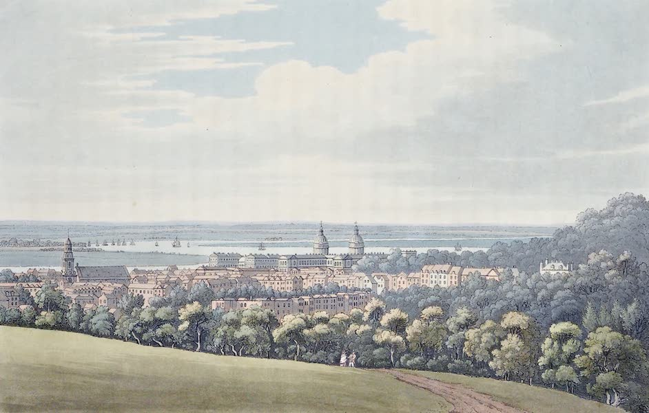 An History of the Principal Rivers of Great Britain Vol. 2 - View of Greenwich down the River (1794)