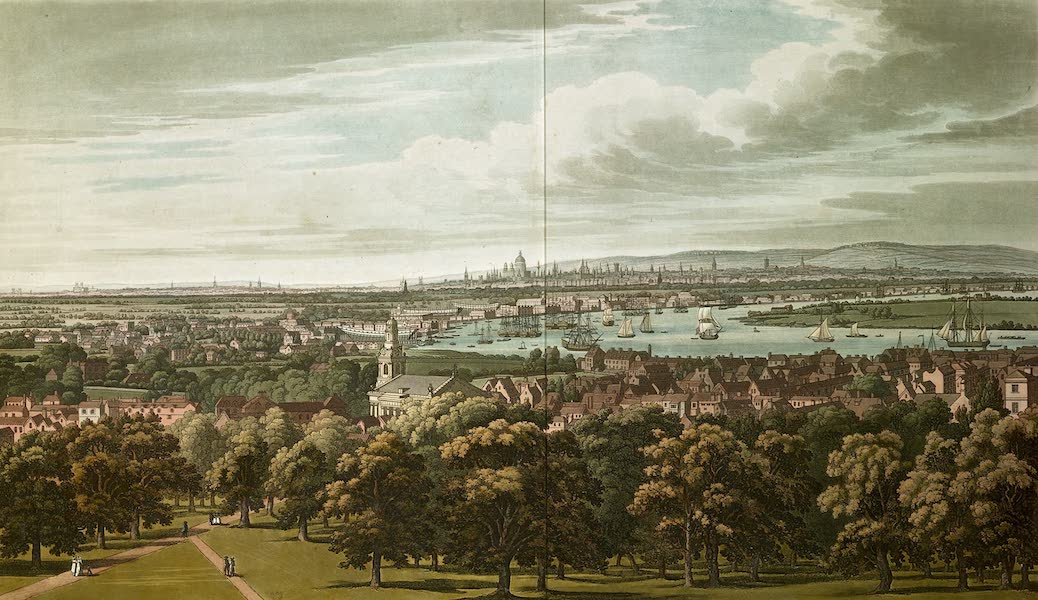 An History of the Principal Rivers of Great Britain Vol. 2 - View of London from the Greenwich Park (1794)