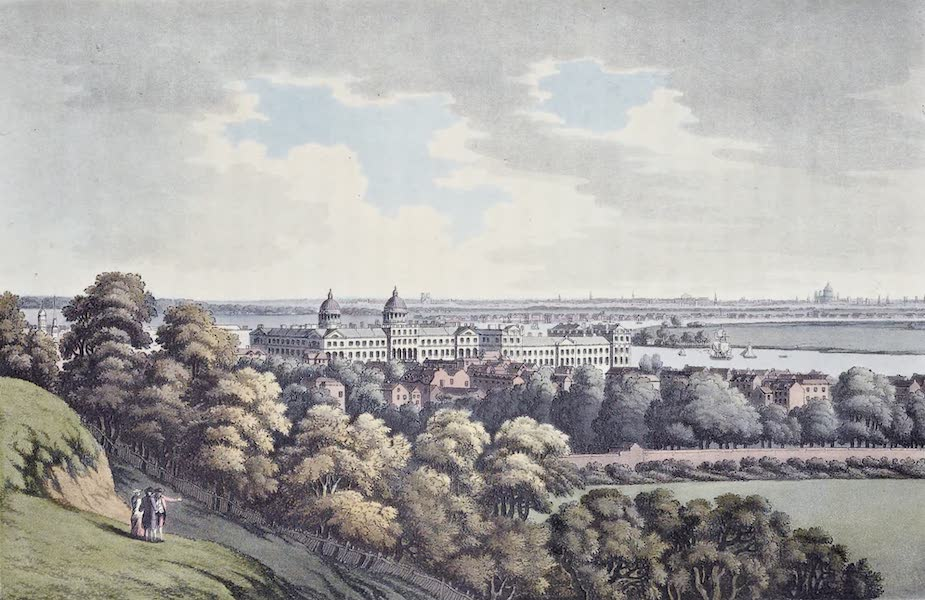 An History of the Principal Rivers of Great Britain Vol. 2 - View of Greenwich up the River (1794)