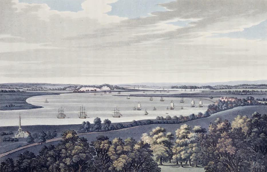 An History of the Principal Rivers of Great Britain Vol. 2 - View of Punfleet, Erith, and Long Reach (1794)